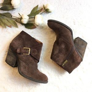 🍀LUCKY BRAND Eastin Suede Ankle Boot Sz 6.5